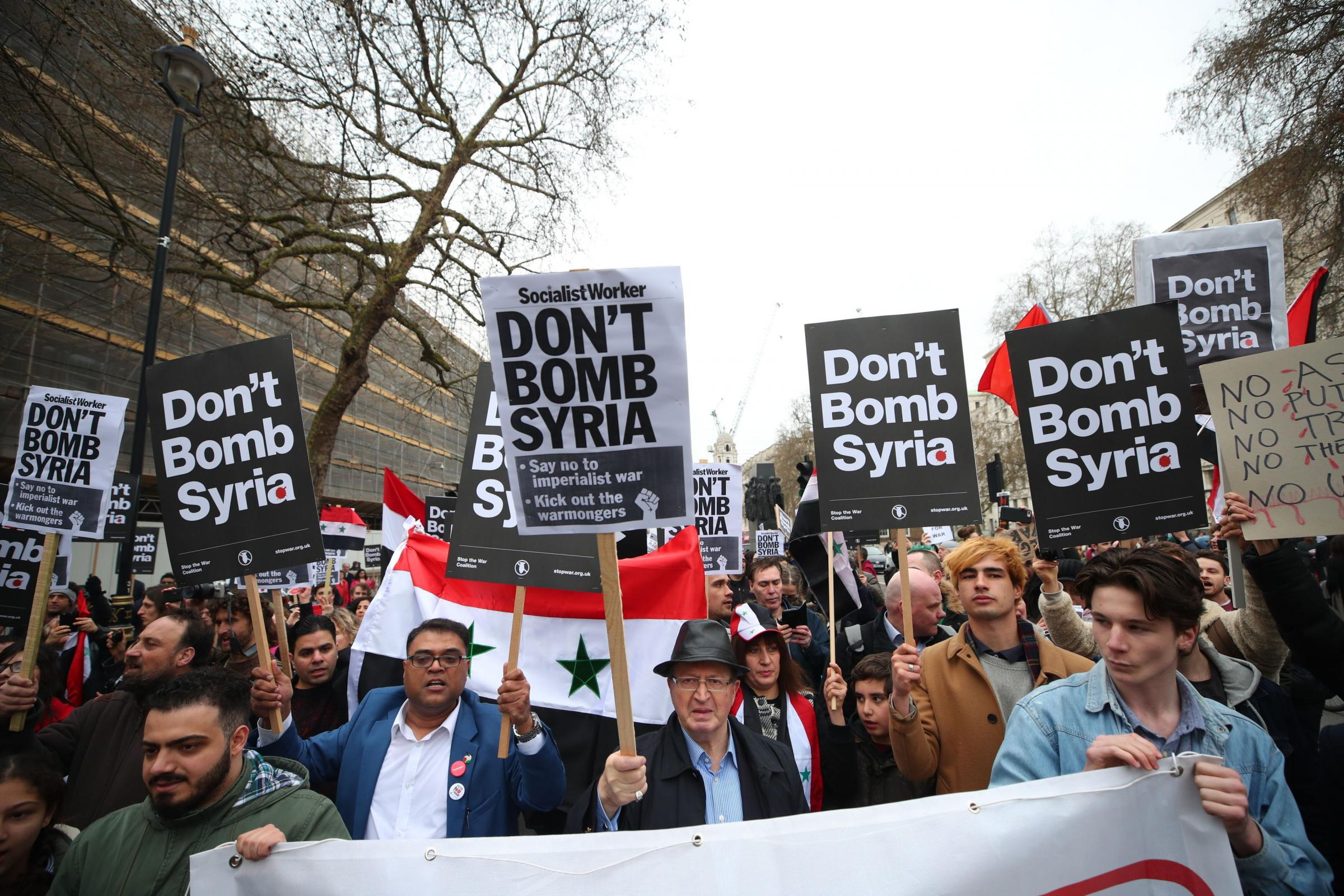 British opinion leaders question legality over strikes on Syria