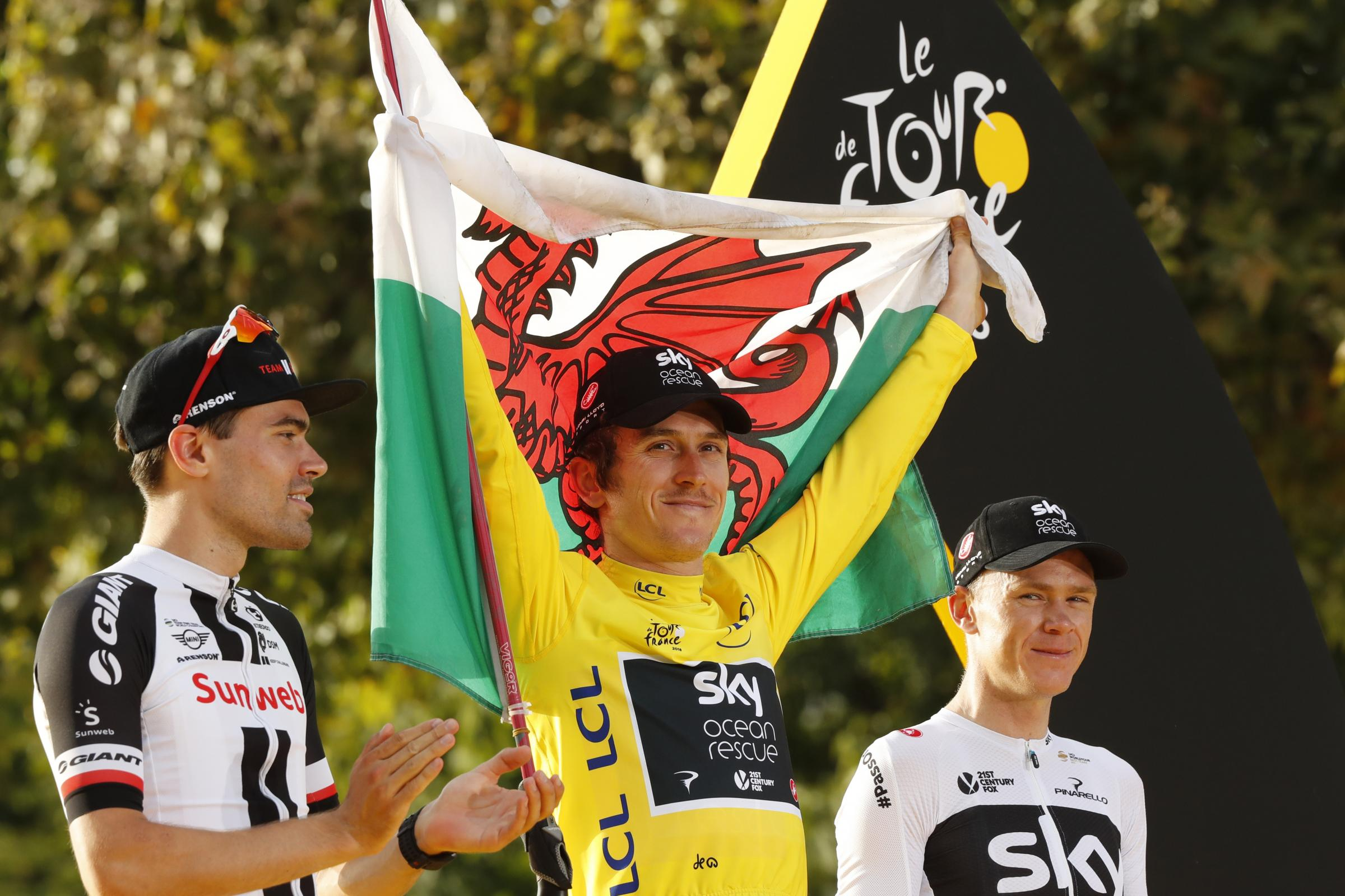 Team Sky's Geraint Thomas becomes first Welshman to win Tour de France