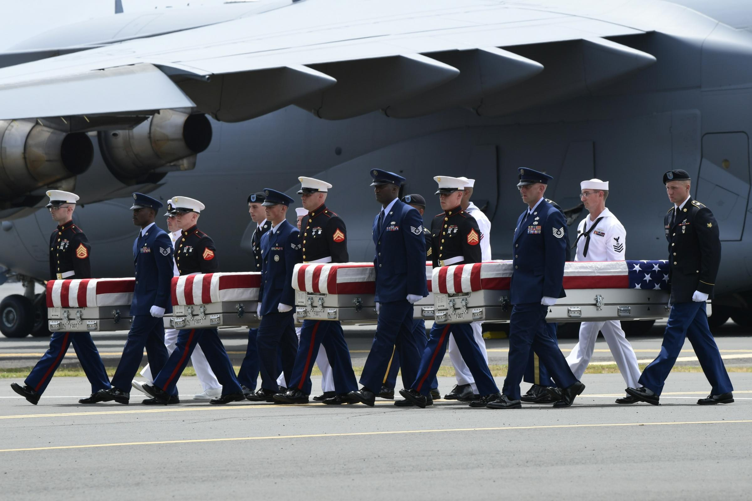 USA  says remains returned by North Korea likely American